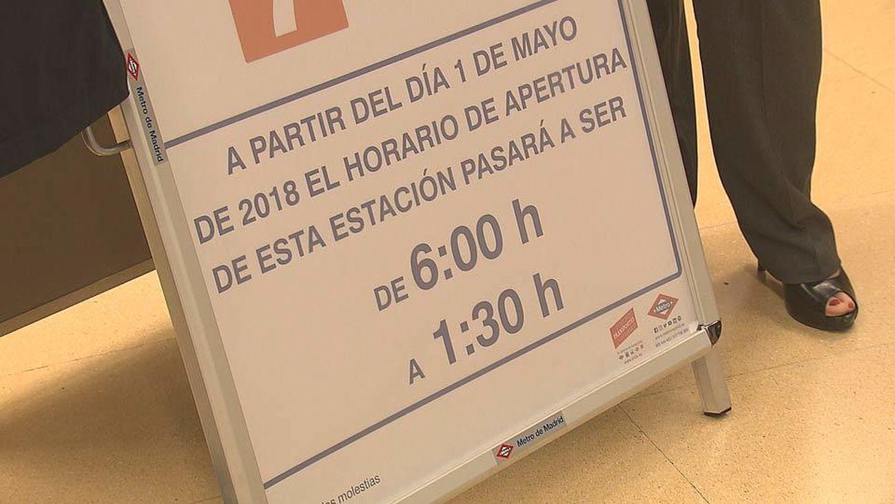 La estación de metro de Pitis abrirá hasta la 1.30 h. de la madrugada