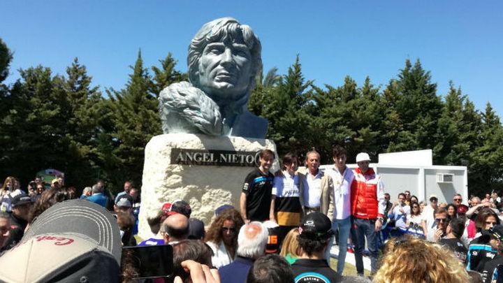 Un busto de Ángel Nieto preside el ya Circuito de Jerez