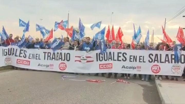 Los funcionarios de prisiones protestan por falta de personal y discriminación salarial