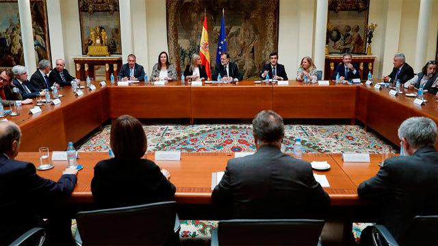 Rajoy se reúne con representantes de asociaciones de víctimas del terrorismo
