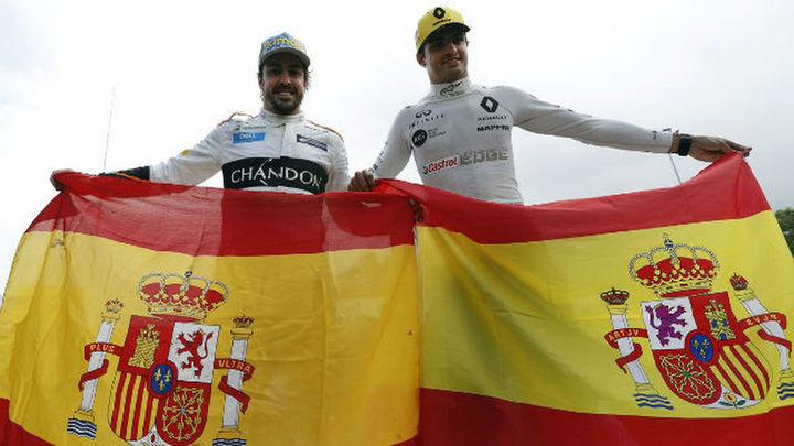 GP España: Sainz 8º, Alonso 9º y doblete de Mercedes