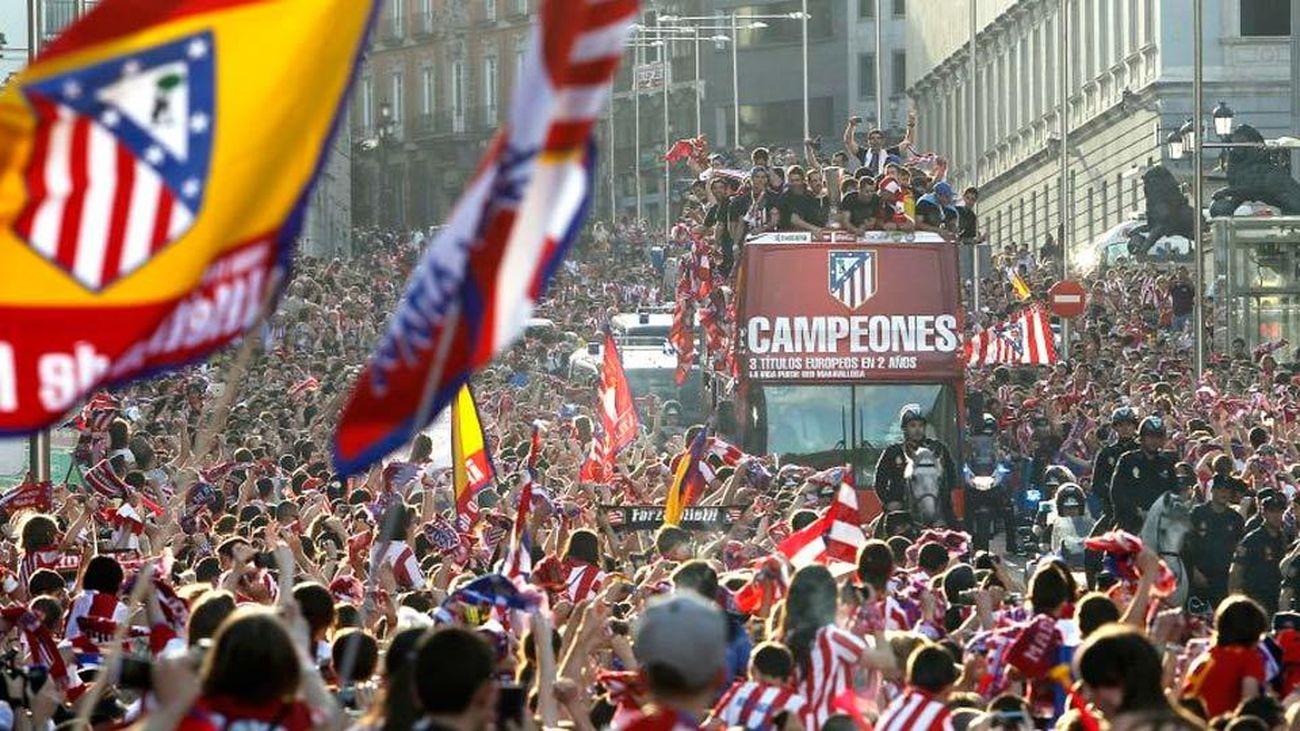 Este será el recorrido del Atlético de Madrid por la capital