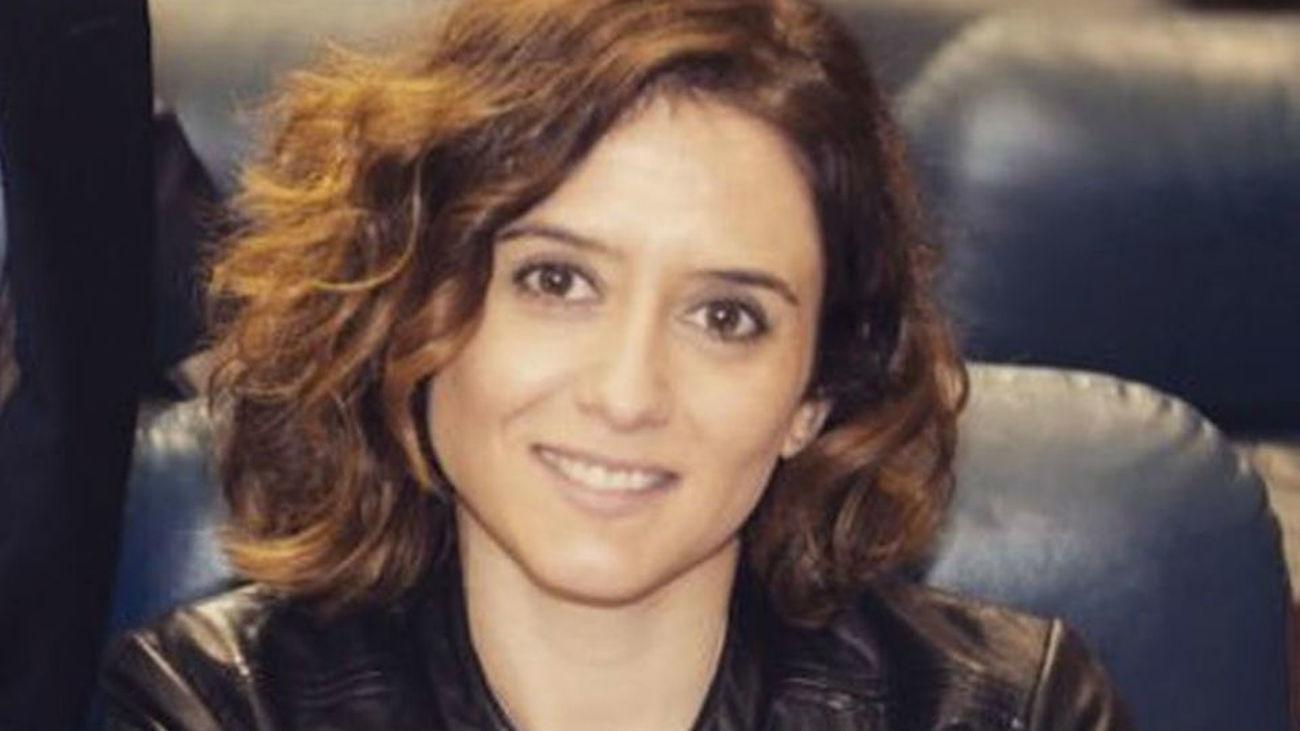 Isabel Díaz Ayuso, vicesecretaria de Comunicación y portavoz del PP de Madrid