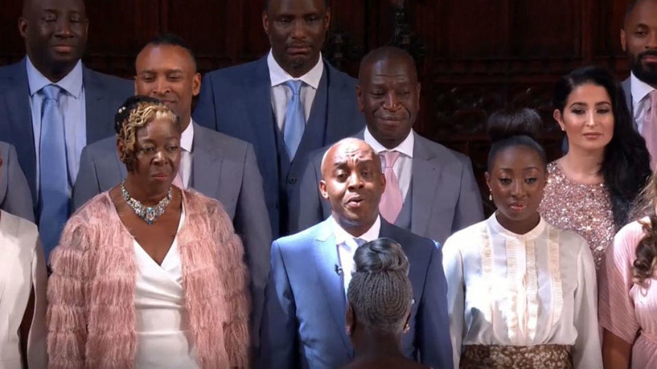 El coro de Gospel que amenizó el enlace real