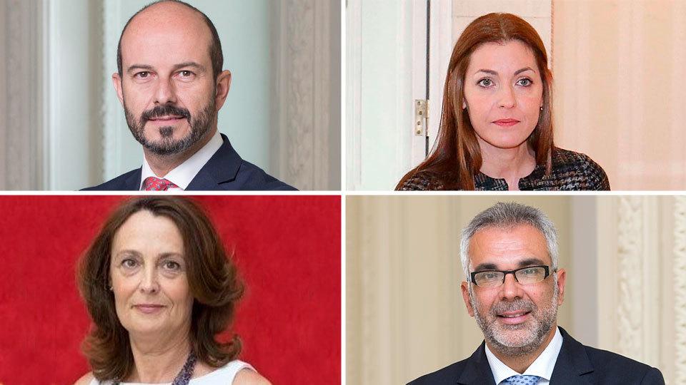 El vicepresidente Pedro Rollán y los consejeros María Dolores Moreno, Carlos Izquierdo y Yolanda Ibarrola