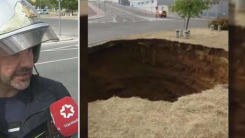 Un socavón ha provocado una avería en el suministro de agua de Madrid
