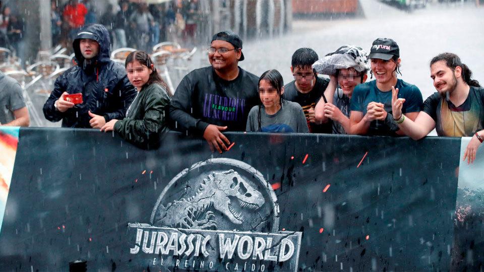 """""""Jurassic World, el reino caído"""" se preestrena en Madrid con el director y actores"""