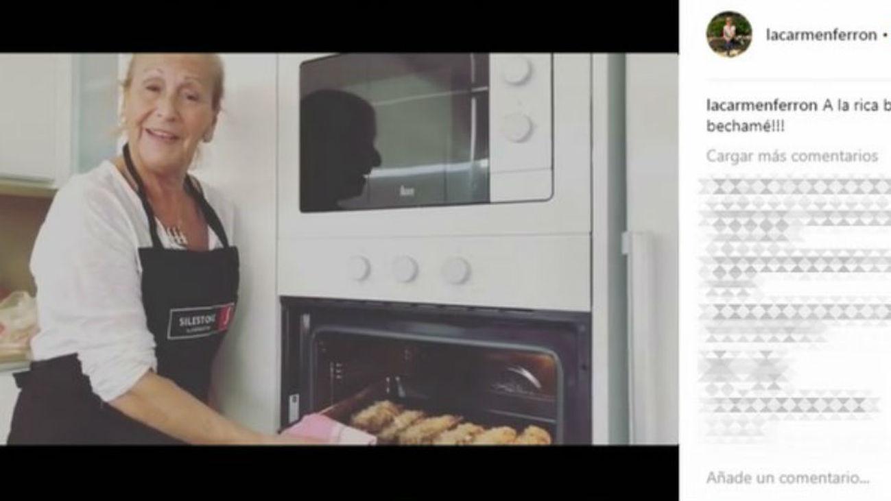 La madre de Antonio Orozco y sus tutoriales de cocina