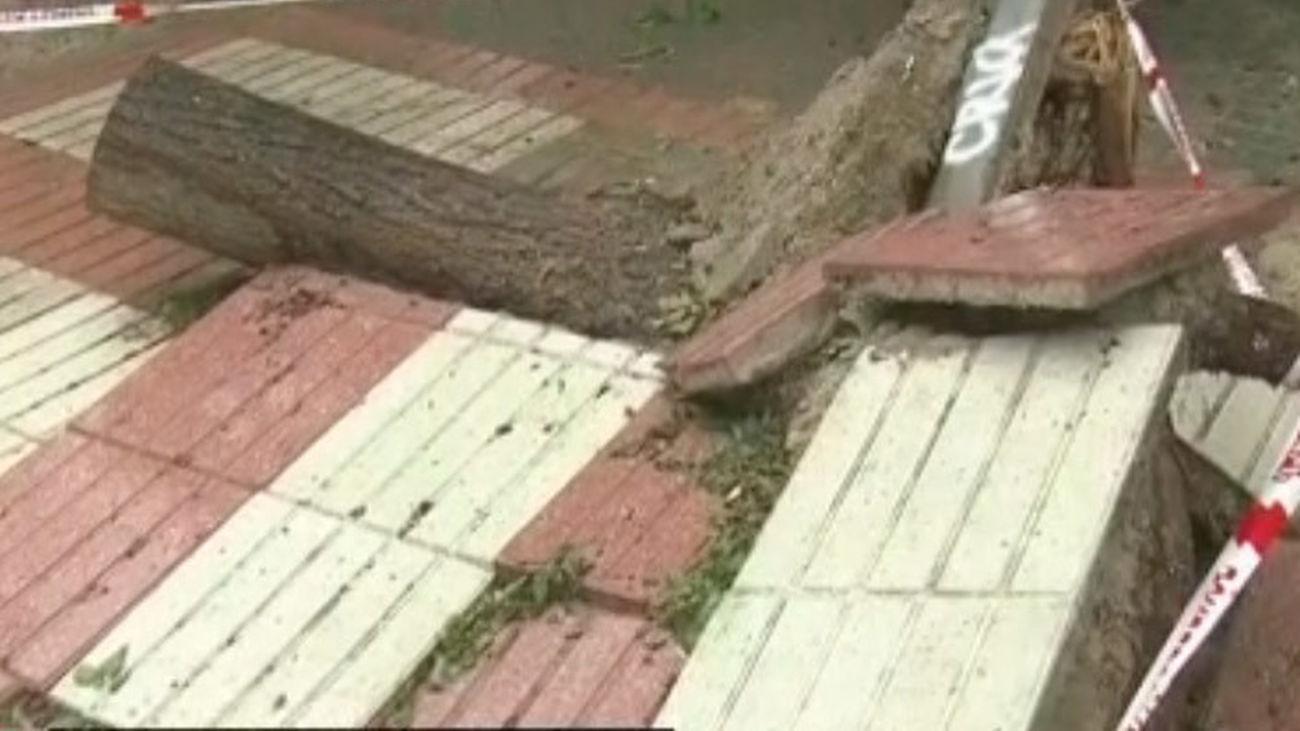Los vecinos de Canillejas denuncian el mal estado de sus aceras