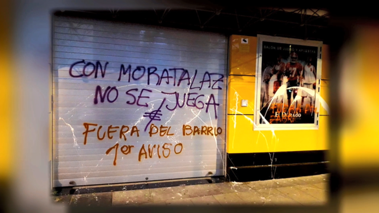 Actos vandálicos en Moratalaz