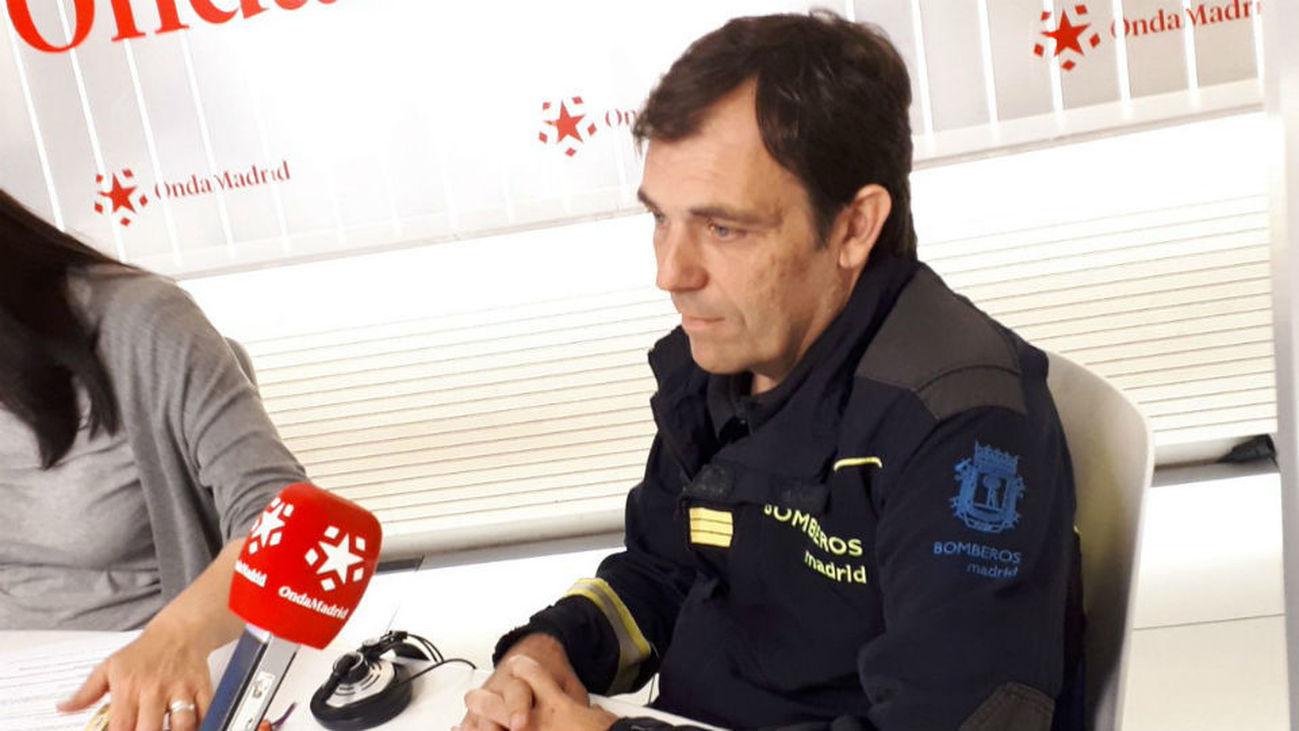 Gabriel Tera, bombero que estuvo en el derrumbe