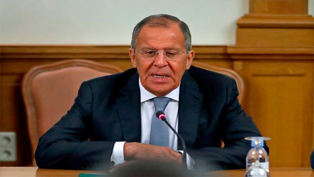 El ministro ruso de Exteriores, Serguéi Lavrov