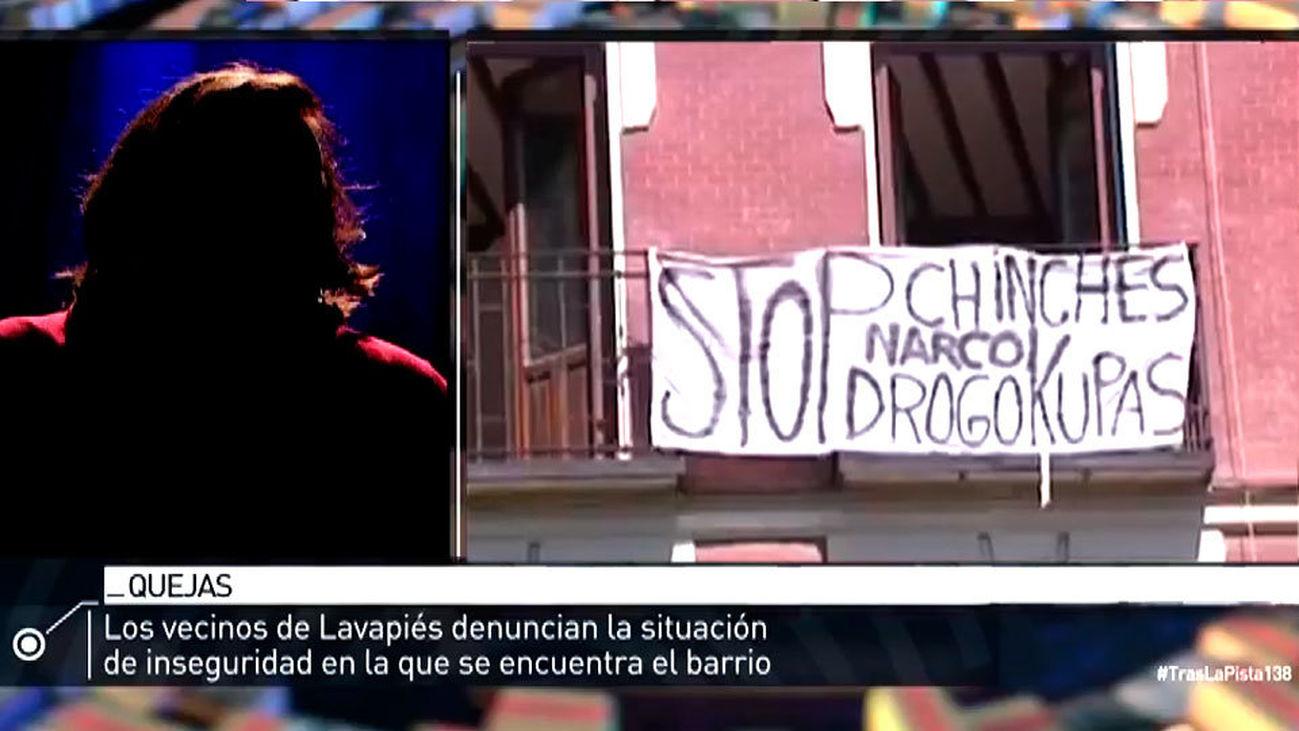 """Lavapíes: """"la droga está por todas partes"""""""