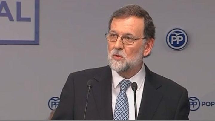 Rajoy anuncia que deja la presidencia del PP y que estará hasta tener sucesor
