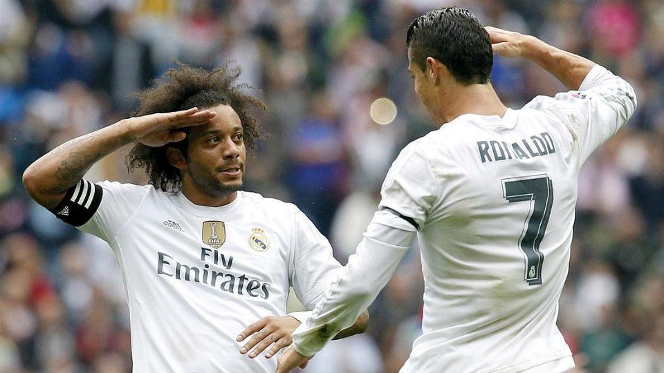 Marcelo y Cristiano Ronaldo