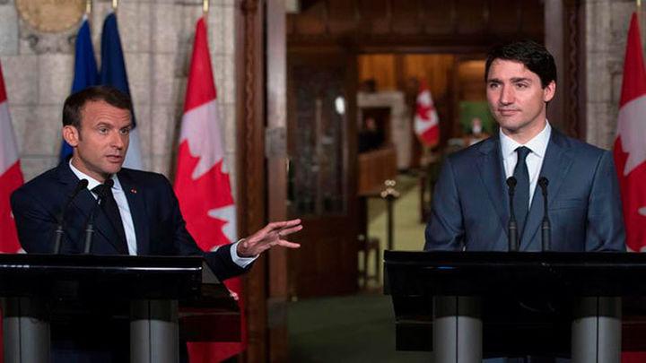 """Trudeau y Macron dicen que seguirán siendo """"educados"""" y """"firmes"""" con Trump"""