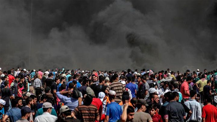 Tres muertos y centenares de heridos en las protestas en Gaza