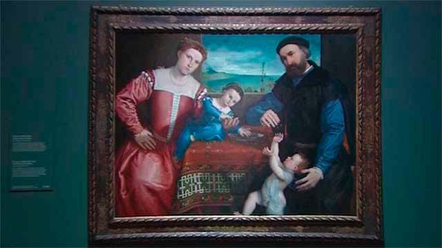Una de las obras expuestas de Lorenzo Lotto