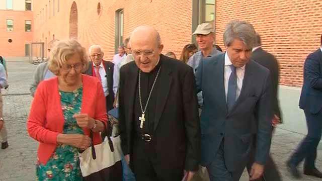 Manuela Carmena, Carlos Osoro y Ángel Garrido