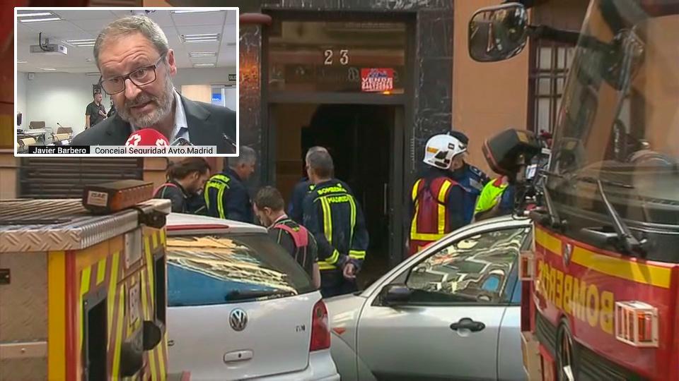 Barbero asegura que el derrumbe de corrala en Chamberí está controlado