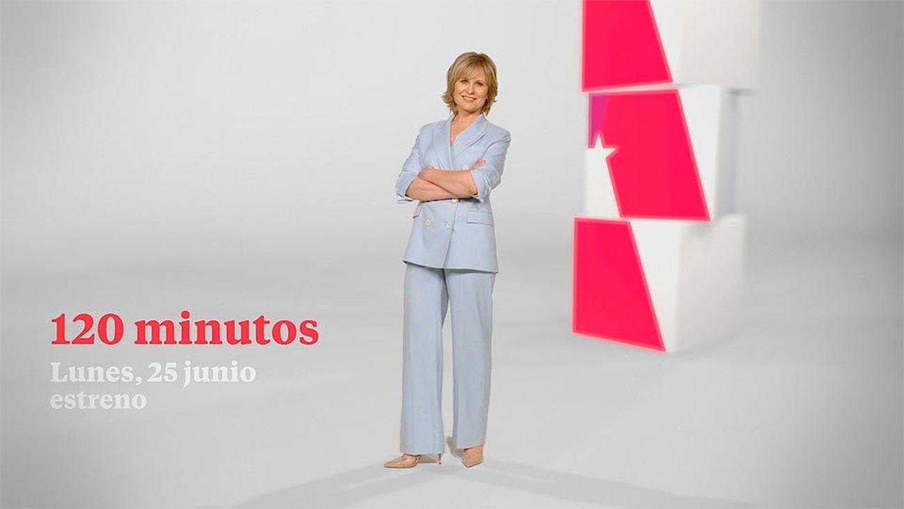 María Rey presenta el magacín 120 minutos