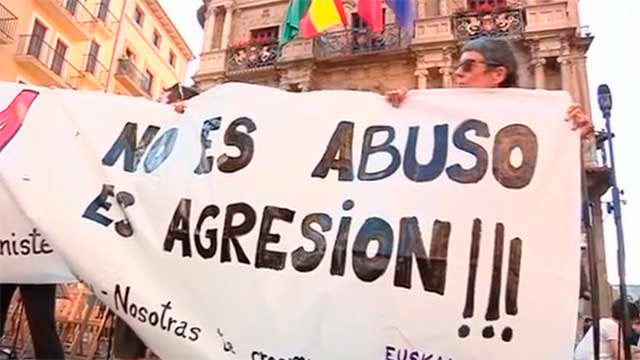 Manifestación contra la decisión judicial sobre la Manada