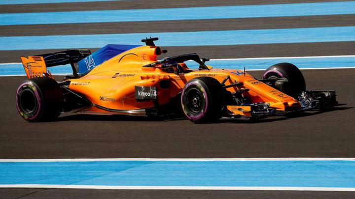 GP Francia: Alonso, 7º; Sainz, 12º en los libres