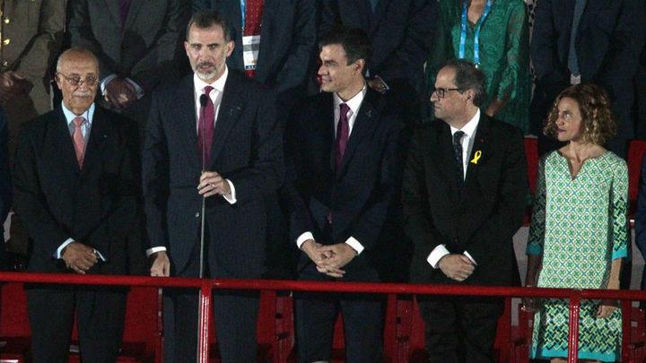 Sánchez dice que la coincidencia del Rey, él y Torra es un intento de normalización