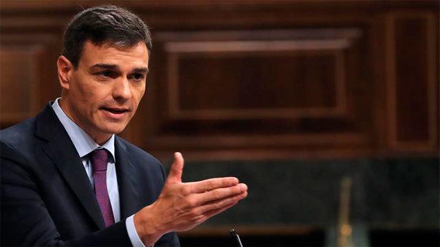 El presidente del Gobierno, Pedro Sánchez en el Congreso