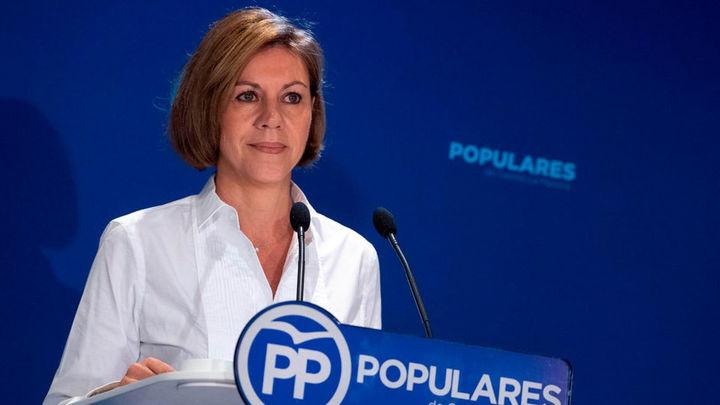 Cospedal propone una declaración de repulsa contra Sánchez por presos etarras