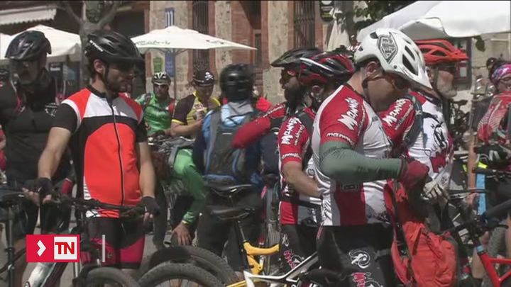 Protesta ciclista en Cercedilla contra el nuevo plan rector de la sierra del Guadarrama