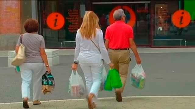 Bolsas de plástico de comercios