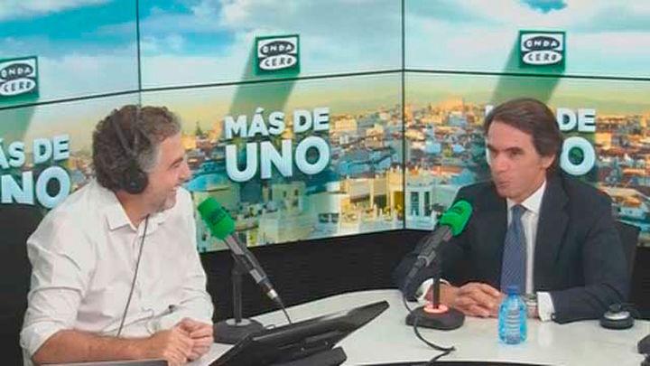 Aznar se declara al margen de las precandidaturas del PP