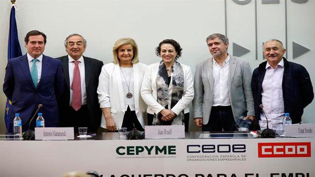 CCOO, UGT, CEOE y CEPYME firman del IV Acuerdo para el Empleo