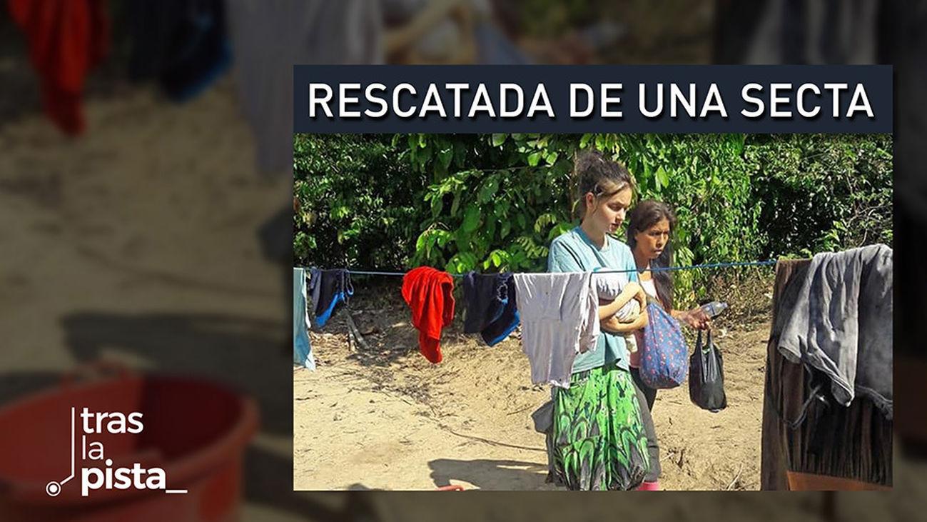 Patricia Aguilar rescatada por su padre de una secta en Perú