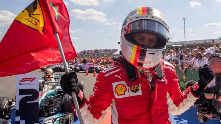 GP Inglaterra: Vettel más líder; Alonso 8º y abandono de Sainz