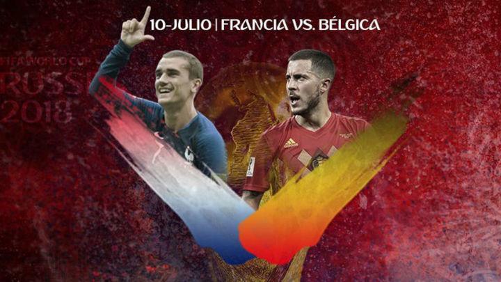 Francia busca su tercera final; Bélgica, la primera