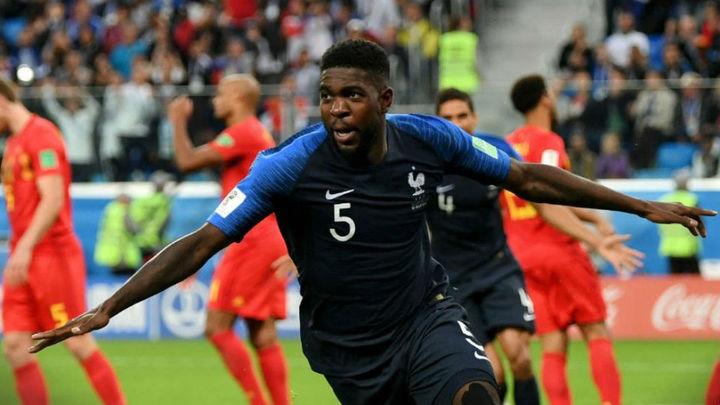 1-0. Un cabezazo de Umtiti mete a Francia en la final