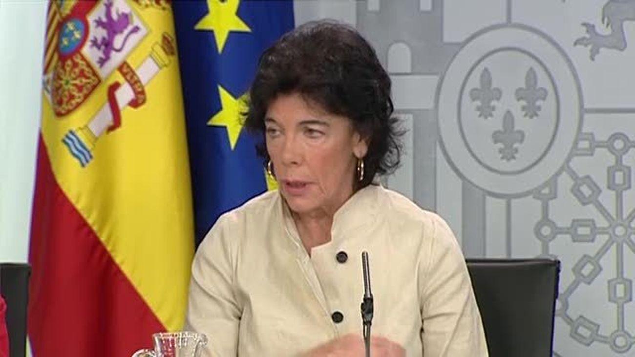 Celaá minimiza las revelaciones de Corinna porque son antiguas y no afectan a Felipe VI