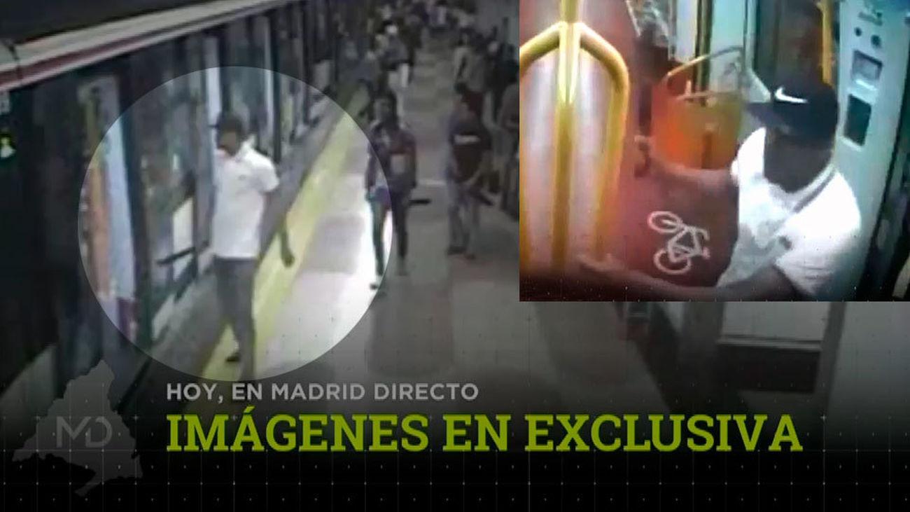 Imágenes exclusivas del jefe de los trinitarios machete en mano en el metro