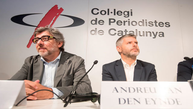 Los abogados Jordi Pina y Andreu Van Den Eynde parte de las defensas de los líderes independentistas presos