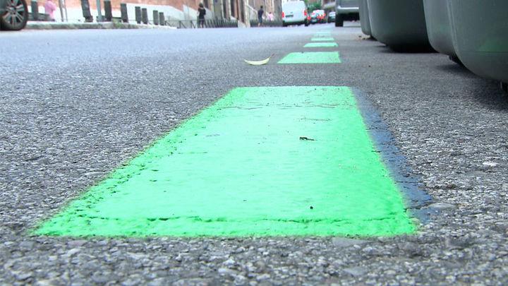 Las plazas azules del centro de Madrid pasan a ser verdes