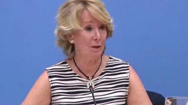 Aguirre manifiesta que lo que le mueve a Carmena es procurar el ascenso de Pablo Iglesias