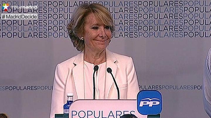 Aguirre se quedaría en la oposición si no es alcaldesa pese a ganar las elecciones con 21 concejales