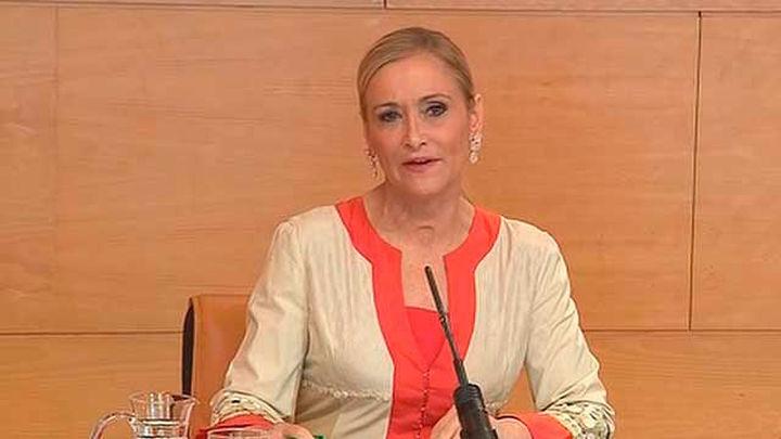 Cristina Cifuentes responde a la petición de Ciudadanos de bajar el IRPF a todos los madrileños