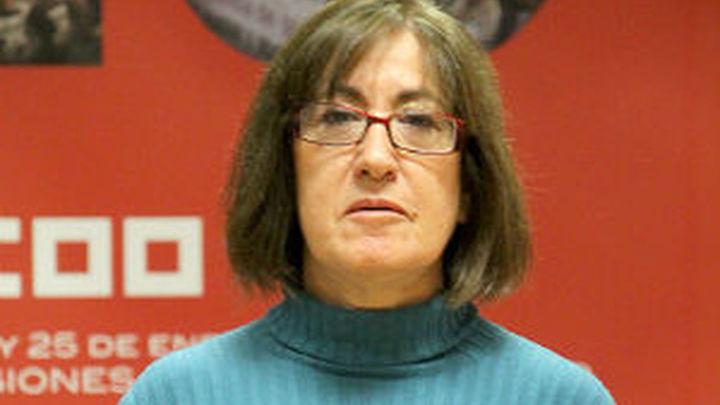 Mª Cruz Elvira, secretaria de empleo de CCOO Madrid, valora el descenso del paro en 2.032 personas
