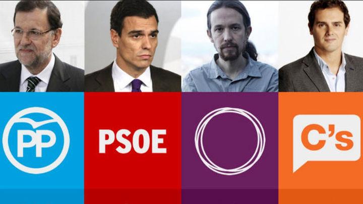 Bloque electoral: Información del PP, PSOE, Unidos Podemos y Ciudadanos