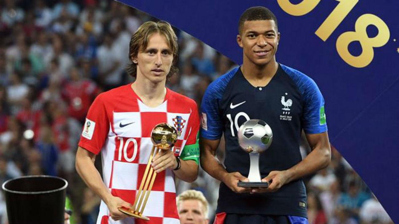Modric balón de oro; Mbappe mejor joven
