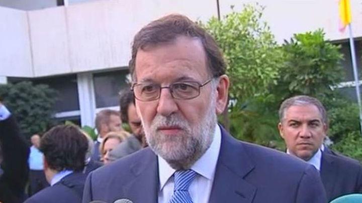 """Rajoy se siente """"enormemente apenado"""" por la muerte de Rita Barberá, que """"dedicó su vida al PP"""""""