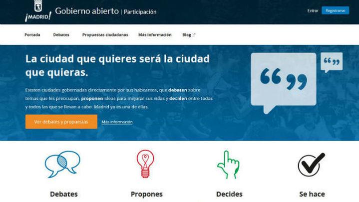 Arranca la web del Ayuntamiento de Madrid de propuestas decide.madrid.es